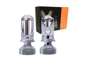 Светодиодные Led Лампы H4 KELVIN Bi-Led Линза H4 - 8000Lm - 5500K ближний/дальний - Год гарантии