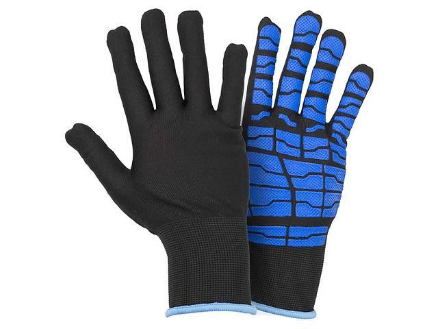 Перчатки трикотажные с латексным покрытием (паутина на ладони) р9 (синие манжет) Sigma (9445531)- объявление о продаже  в Львове