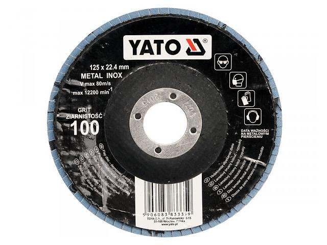 YATO Круг з наждачних пелюстків випуклий ZIRCONIIA ALUMINIUM OXIDE INOX К 60, Ø= 125/22,4 мм DW- объявление о продаже  в Ивано-Франковске
