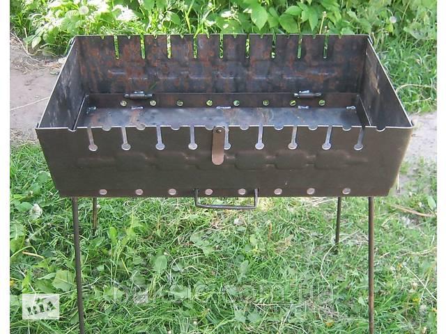 купить бу Раскладной мангал чемодан на 10 шампуров 2 мм в Харькове