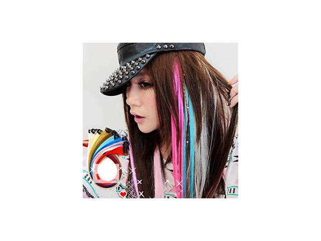 продам Кольорові пасма на шпильках — Локони для волосся термо, яскраві, тресс, кліпсах, купити локон бу в Києві