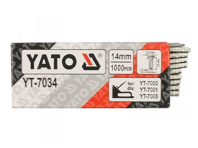 бу Цвяхи до степлера YATO, h= 14 мм, t= 1.2 мм, 1000 шт. в Ивано-Франковске