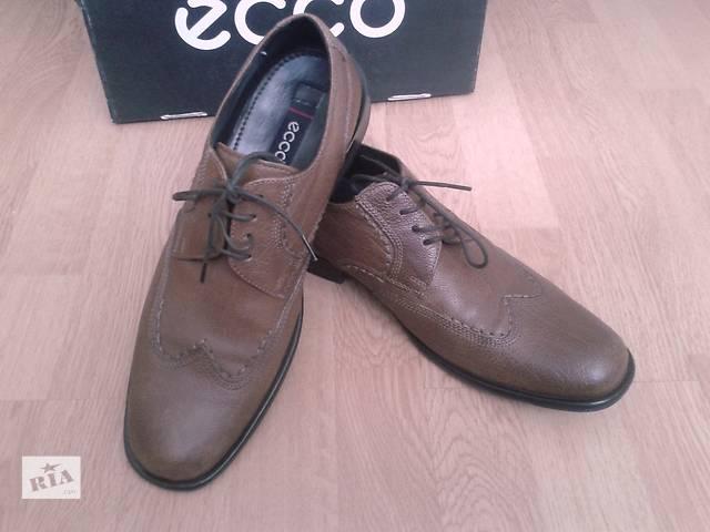 продам Туфли ECCO BOLOGNA, кожаные, оригинал, коричневые, 42р, бу в Киеве