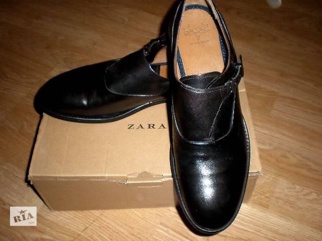 бу Туфли монки Zara, Португалия натуральная кожа в Гнивани