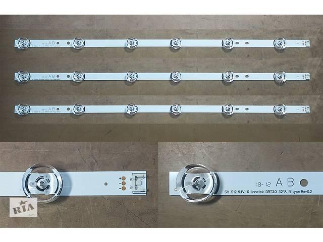 Планки линейки светодиодной подсветки матрицы телевизора LG A/B 6В 590 мм- объявление о продаже  в Николаеве