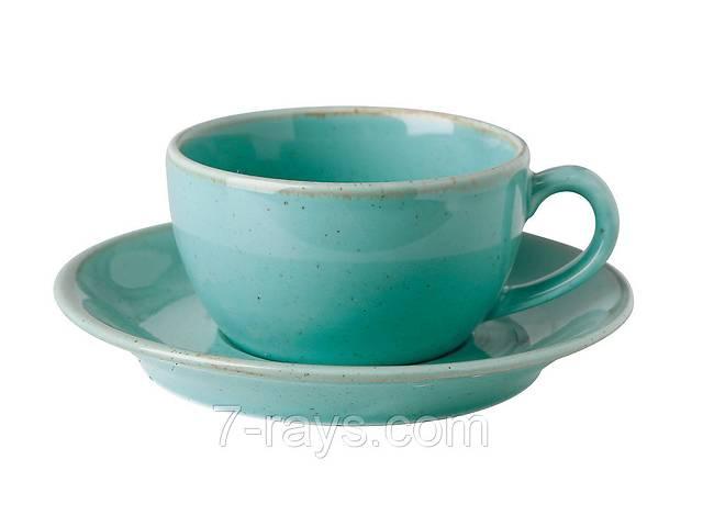 продам Чашка 200 мл. фарфоровая, бирюзовая Seasons Turquoise, Porland (блюдце 213-132115.T) бу в Дубно (Ровенской обл.)