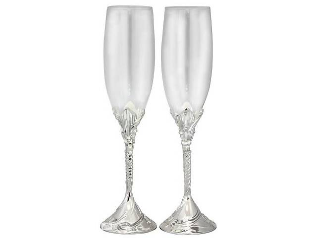 Набір 2 фужера Wedding Любовних для шампанського 220мл, скло+метал- объявление о продаже  в Одесі