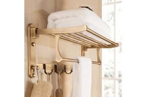 Полка для полотенец Art Design с крючками Star 903 Бронза