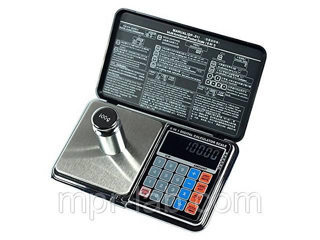 продам Весы цифровые мультифункциональные 6 в 1 Digital Pocket Scale Precision DP-01 (0,01/100 г) (Весы+калькулятор) бу в Дубні