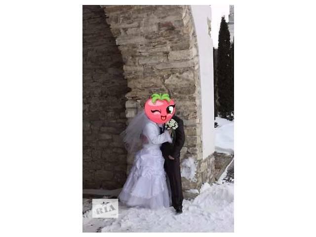 купить бу Свадебное платье вместе с шубкой в Львове