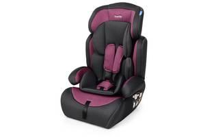 Автокресло детское Bambi M 3546 Pink Gray группа 1-2-3 лен серо-розовый