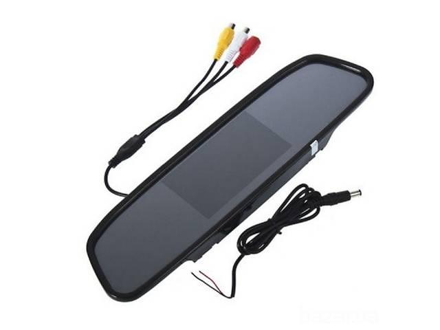 купить бу Автомобильное зеркало заднего вида с 4.3 монитором в Одессе