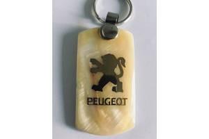 Брелок подарок с золотой гравировкой на качественном камне Peugeot Пеж