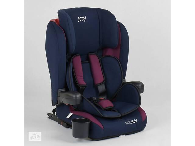 Детское автокресло JOY 72583 Темно-синий с бордовым, система ISOFIX, группа 1/2/3, от 9-36 кг- объявление о продаже  в Одессе