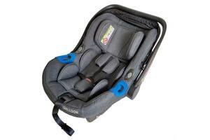 Детское автокресло-переноска  от 0 до 18 месяцев Welldon Diadem New крепление Isofix до 13 кг, серое