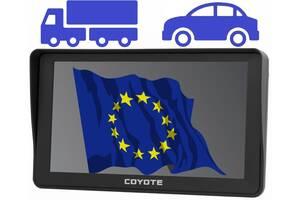 GPS навигатор COYOTE 780 Delivery Star 7 дюймов 256mb/8Gb с картами Европы и Украины для грузовиков и легковых авто