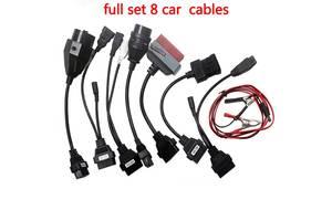 Комплект кабелей Обд 2 переходников obd2 8шт OBD 2 для легкових автомобілів Delphi Autocom Launch