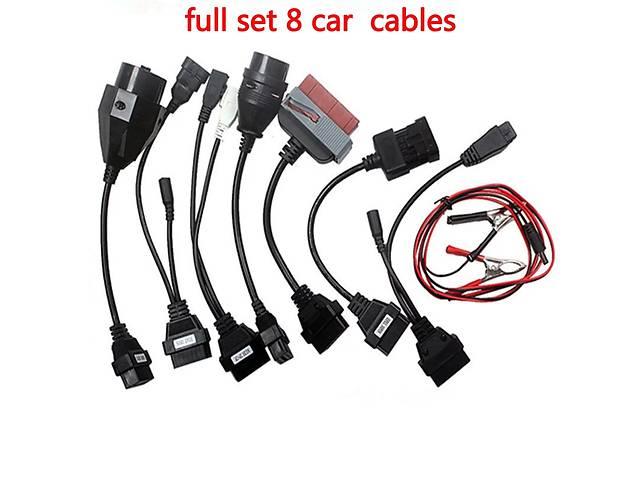 купить бу Комплект кабелей Обд 2 переходников obd2 8шт OBD 2 для легкових автомобілів Delphi Autocom Launch в Ровно