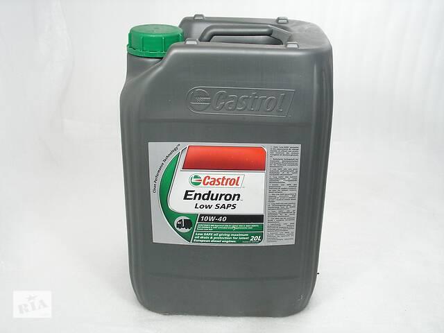 купить бу Мастило моторне 10W-40 Castrol напівсинтетичне для дизельних двигунів вантажівок  Enduron Low SAPS 20л 2012 в Ровно