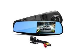 Видеорегистратор зеркало с двумя камерами L 9000