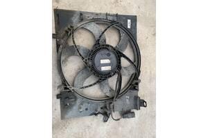 Вживаний моторчик вентилятора радіатора з дифузором для BMW 5 Series E60 E61 M54 2003-2007