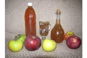 Органический яблочный уксус на меду выдержанный