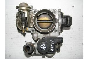 Б/у дроссельная заслонка Mazda 323F BG/MX-3 EC 1.6 16кл B6/1.8 16кл BP 1991-1994, BP0213640, DENSO 195900-2500 [10616]