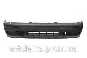 Бампер передний, 2 части,черный,компл.,с заглушками {05.92-} для Renault R 19 11.88-11.95