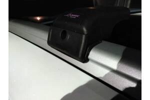 BMW X5 E-70 2007-2013 гг. Поперечный багажник на интегрированые рейлинги (с ключем) Черные