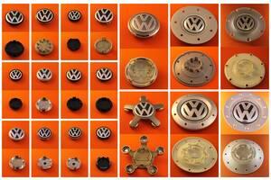 Колпачки заглушки Volkswagen 56, 60, 65, 70, 76, 135 мм звезда на литые диски