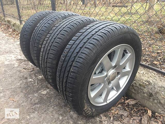 купить бу Комплект літньої гуми на титанових дисках в Коломые