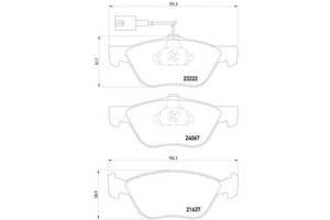 Тормозные колодки комплекты Alfa Romeo 156
