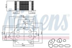 Масляный радиатор PEUGEOT / FIAT / CITROEN / TOYOTA / DS / MAZDA / FORD / MINI / MITSUBISHI