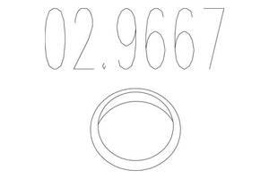 Монтажное кольцо FORD ORION II (AFF) / OPEL VECTRA A (J89) / OPEL CALIBRA A (C89) 1980-2002 г.