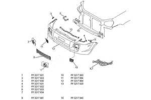 Накладка переднего бампера Hyundai Tucson 03-09, средняя, под капот (OE) 865512E000