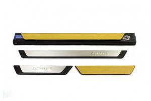 Nissan Patrol Y61 1997-2011 гг. Накладки на пороги Flexill (4 шт) Sport