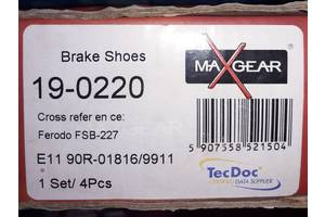 Новые тормозные колодки MAXGEAR 19-0220 OPEL , SAAB