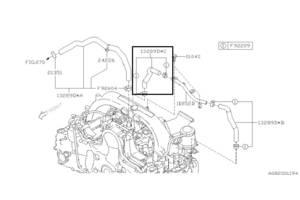 Патрубок воздушный Subaru Forester S12, 2007-2012, 13289AA060