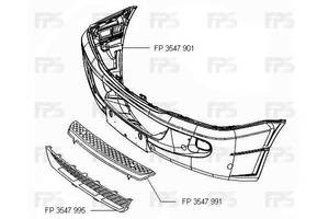 Передний бампер Mercedes Sprinter 06- с отв. ПТФ (FPS) Mercedes-Benz FP 3547 901