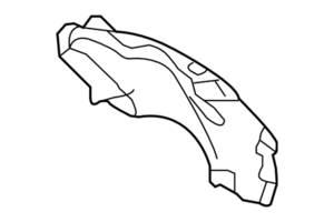 Подкрылок задний левый Kia Magentis '09-11 OE 868212G500
