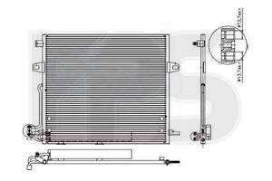 Радиаторы кондиционера Mercedes ML-Class