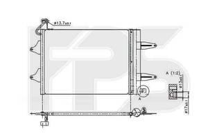 Радиатор кондиционера SEAT IBIZA 2002-2009 +CORDOBA FP 64 K221