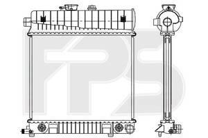 Радиатор Mercedes C-Class 202 93-00/208 97-03 (C208-CLK)/210 95-02 (E-CLASS) производитель FPS