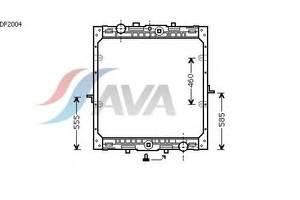 Радиатор охлаждения DAF 95 XF (97-) Glyser 072004