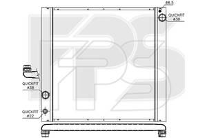 Радиатор охлаждения двигателя Land Rover Range Rover III (NRF) FP 43 A368-X