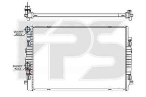 Радиатор охлаждения двигателя SKODA  OCTAVIA 2013- (A7)