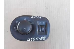 Seat Altea 04 - блок керування освітленням панель перемикач світла