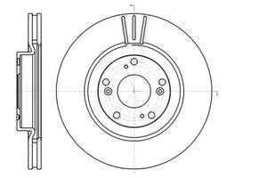 Тормозной диск BYD F6 / BYD G6 / BYD SIRUI / HONDA STREAM (RN) / HONDA / HONDA 2001-2014 г.