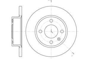 Тормозной диск CHERY AMULET / VW (SVW) GOL (5X1) / SKODA FAVORIT (781) / VW 1988-2011 г.