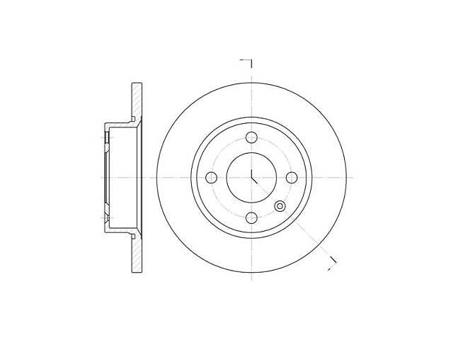 бу Тормозной диск CHERY AMULET / VW (SVW) GOL (5X1) / SKODA FAVORIT (781) / VW 1988-2011 г. в Одессе